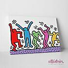 Keith HARING The Dancers 2 STAMPA SU TELA - QUADRO