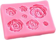 Kentop 3d rose stampo in silicone con 7 Griglia
