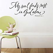 Keoly my soul finds rest in God Psalm 62:1 Adesivi