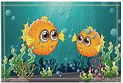 Kids Love Fish Decor Due pesci palla sotto il mare