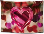KISlink Love Heart Print Tapestry Hanging Cloth