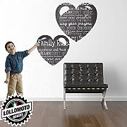 Kit Cuore Lavagna Wall Stickers Adesivo Murale