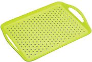 Kitchencraft Colourworks vassoio antiscivolo in plastica, verde, 41 x 28.5 cm, 16 x 2,5 cm