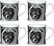 Set di 6 Kitchencraft 80ml PORCELLANA Scottie Dog ESPRESSO CUP