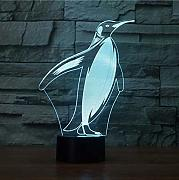 Knncch 3D Led Bedside Decor Penguin Modelling