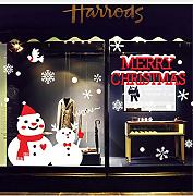 Knncch  Snowman Brothers Christmas Wall Sticker