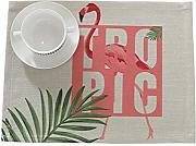 kxrzu Grande Cotton Rectangle Flamingos Placemats