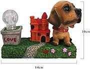 kxrzu Grande Cute Creative Resin Puppy Dog con