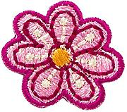 Lamepop Embroidery Iron Patch Flower Rosso Giallo