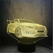 Lampada 3D per auto Cool Boy Room Decor Regalo