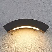 Lampada parete esterni angolare Leonora Grigio Metallo
