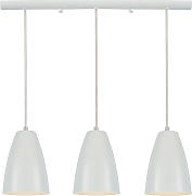Lampadario a barra design 3 luci Bianco FRIDAY