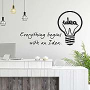 Lampadina Idea Office Ispirazione Cool Wall Art