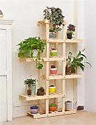 LB Di legno solido Flower Pot Shelf europeo