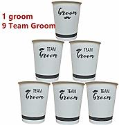 LBDH 10pcs / Set Doccia Team Bride Paper Cup for