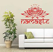 (Lbonb) Adesivo Home Decoration Yoga Lotus