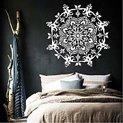 Lbonb Home Decor Mandala Flower Adesivo Art Vinyl