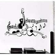 (Lbonb) Home Decor Wall Sticker Chitarra