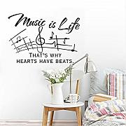 Lbonb Musica Quote Adesivo Musica Is Life Quote