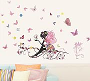Lbonb The New Flower Fairy Wall Sticker Removab