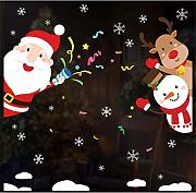LCYCN 3-Pack Natale Finestra Decorazione Sticker