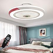 LED Fan Plafoniere Ventilatore A Soffitto Con Luce