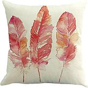 LEEDY Feather painting throw Pillow case, cuscino
