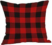 LEEDY Red Plaid – Federa, Cuscino di