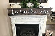 Letitia48Maud Farmhouse Sign enorme Farmhouse Sign