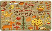 LIFIPOK HOME Autumn Forest Design in Doodle Style