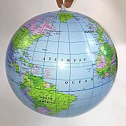 Bellissima palla pallone da mare spiaggia gonfiabile con mappamondo mondo globo