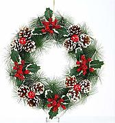 Argento 2,7 m iBaste Ghirlanda natalizia per interni ed esterni