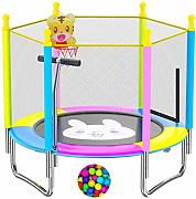 LKFSNGB Trampolino per bambini 5ft Bounce Jump Bed