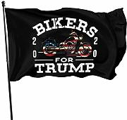 LL-Shop Bikers for Trump 2020 Bandiere USA 3x5