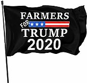 LL-Shop Farmers for Trump 2020 Flags 3x5 Piedi