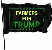 LL-Shop Farmers for Trump Flags 3x5 Piedi Bandiera