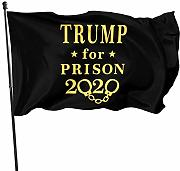 LL-Shop Gold Trump for Prison Flags 3x5 Piedi
