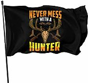LL-Shop Never Mess with A Huntre Flag 3x5 Ft