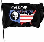 LL-Shop Oklahoma for Biden Flag 3x5 Ft Garden Flag