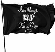 LL-Shop Up for A Nap Flag 3x5 Ft Garden Flag Yard