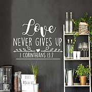 LOIUYT Love Quotes Wall Stickers Adesivi murali