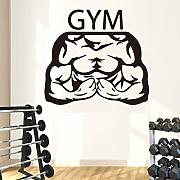 LOIUYT Muscle Male Wall Sticker GYM Decorazione