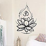 Lsfhb Om   Lotus Wall Stickers Camera Da Letto