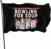 Lsjuee Bowling for Soup Logo Graphic Print Flags