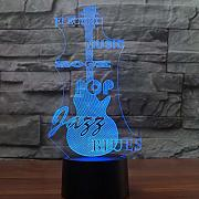 luce notturna 3D 3D Led Luminous Guitar 7 Cambia