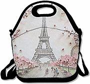 Lunch Bag Peach Blossom Spring Torre Eiffel Lunch