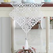 LXF Runner Table Runner Lace Tassel Hanging Spike