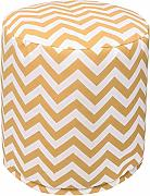 Majestic Home Goods chevron pouf, piccolo, giallo