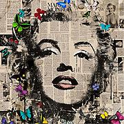 MARILYN MONROE POP ART 30x30 cm Quadro stampa su