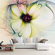 Mbwlkj Modern Abstract Art Flower Photo Murale